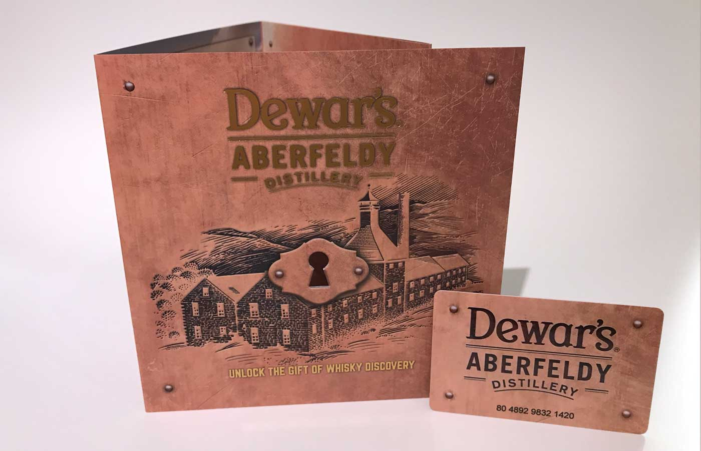 Dewars Gift Voucher Carrier and Card