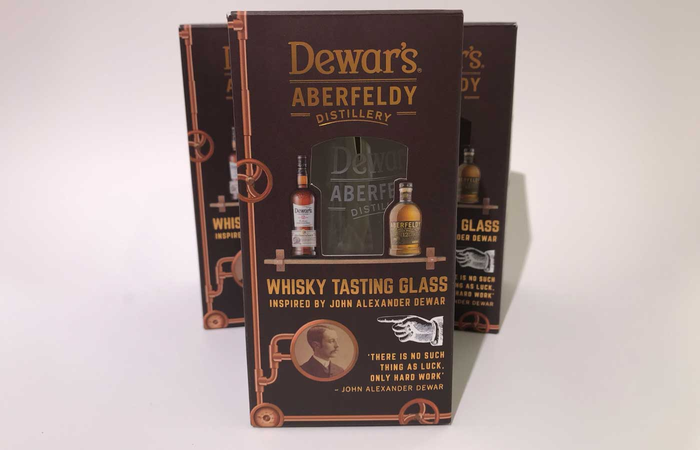 Dewars Tasting Glass - Structural packaging